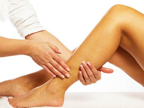 Massage des jambes et des pieds